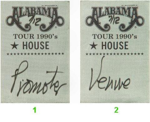 Alabama Backstage Pass