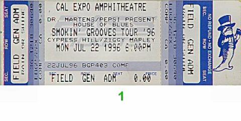 Ziggy Marley & the Melody Makers Vintage Ticket