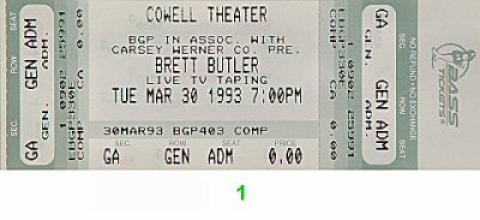Brett Butler Vintage Ticket