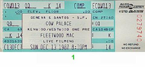 Fleetwood Mac Vintage Ticket