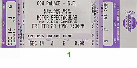 USA Motor Spectacular Vintage Ticket