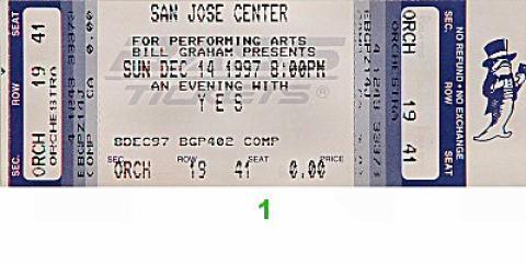 Yes Vintage Ticket