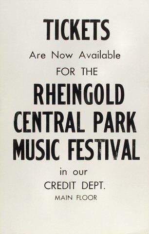 Rheingold Music Festival Poster