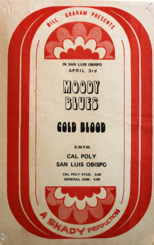 Moody Blues Handbill