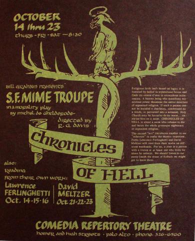 San Francisco Mime Troupe Postcard