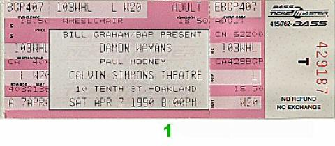 Damon Wayans Vintage Ticket