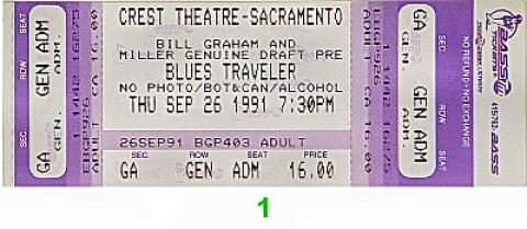 Blues Traveler Vintage Ticket