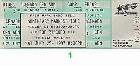 Joe Piscopo Vintage Ticket