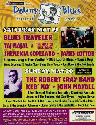 Doheny Blues Festival Handbill