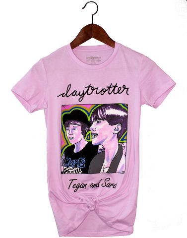 Tegan & Sara Women's Vintage Tour T-Shirt