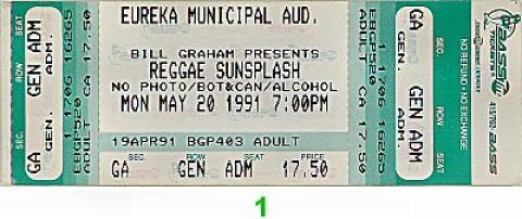 Reggae Sunsplash Vintage Ticket