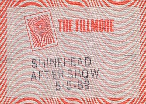 Shinehead Backstage Pass
