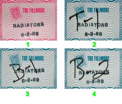 The Radiators Backstage Pass