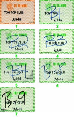 Tom Tom Club Backstage Pass