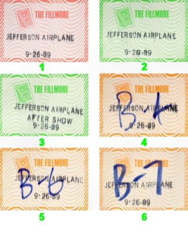 Jefferson Airplane Backstage Pass
