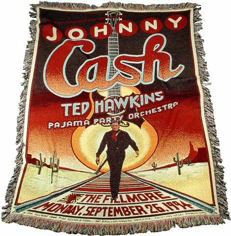 Johnny Cash Blanket/Throw