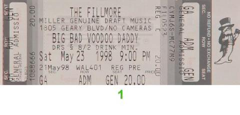 Big Bad Voodoo Daddy Vintage Ticket