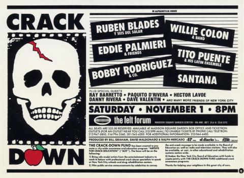 Crack Down Benefit Handbill