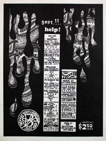 Benefit for the Both and Jazz Club Handbill