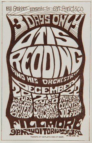 Otis Redding & His Orchestra Handbill