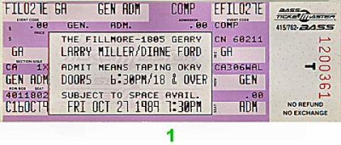 Larry Miller Vintage Ticket