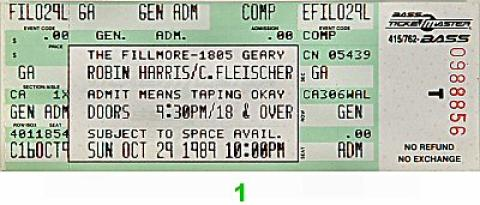 Robin Harris Vintage Ticket