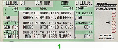 Bobby Slayton Vintage Ticket