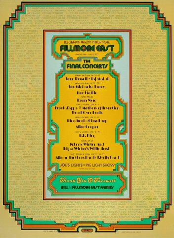 Fillmore East: The Closing Nights Poster