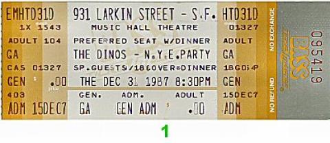 The Dinos Vintage Ticket