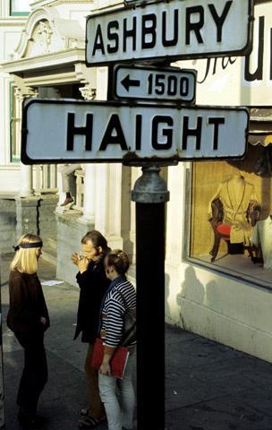 Haight Ashbury Street Sign Vintage Print