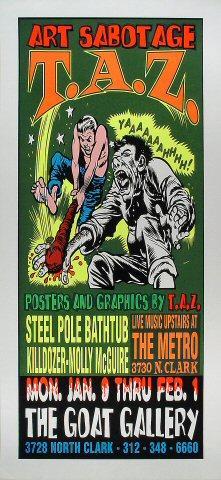 Steel Pole Bath Tub Poster