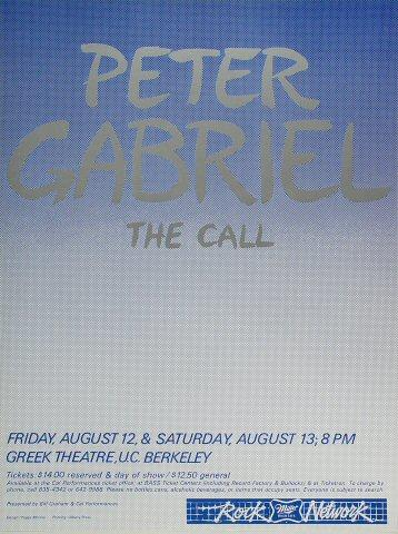 Peter Gabriel Poster