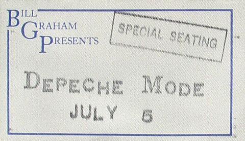 Depeche Mode Backstage Pass