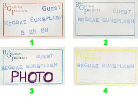 Yellowman Backstage Pass