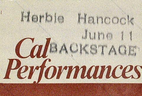Herbie Hancock & the Headhunters II Backstage Pass