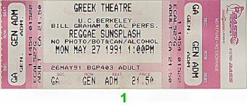 Maxi Priest Vintage Ticket