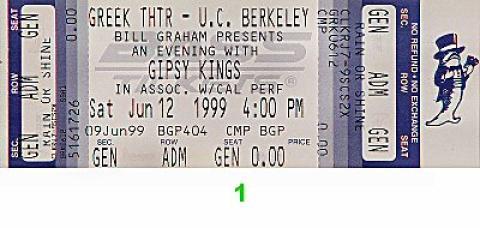 Gipsy Kings Vintage Ticket