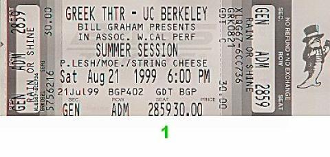 Phil Lesh & Friends Vintage Ticket