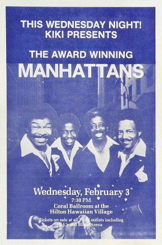 The Manhattans Handbill