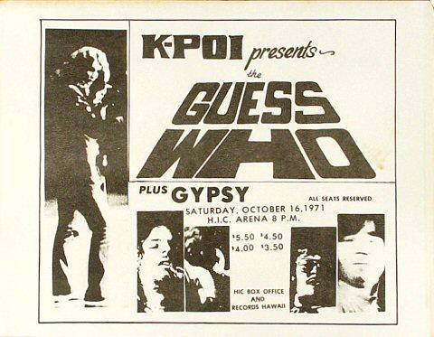 The Guess Who Handbill