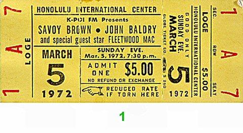 Savoy Brown Vintage Ticket