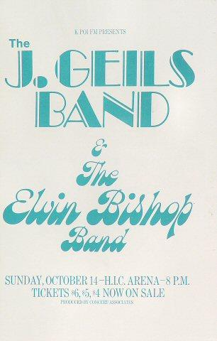 J. Geils Band Handbill