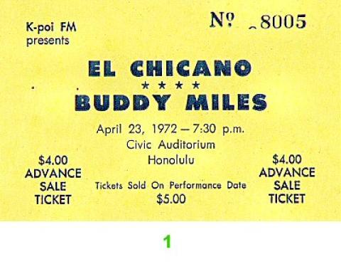 El Chicano Vintage Ticket