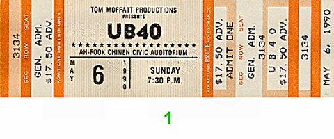 UB40 Vintage Ticket