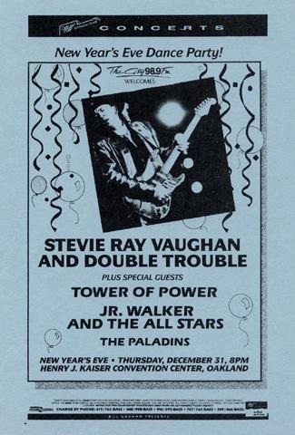 Stevie Ray Vaughan & Double Trouble Handbill