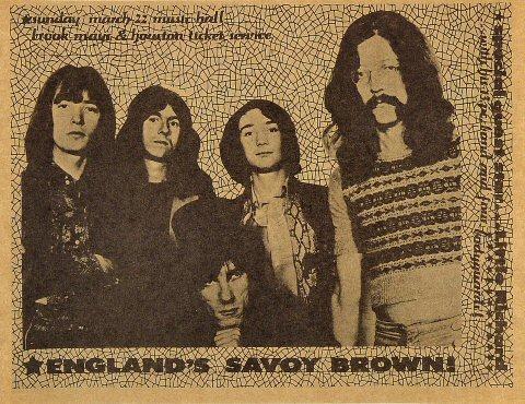 Savoy Brown Handbill