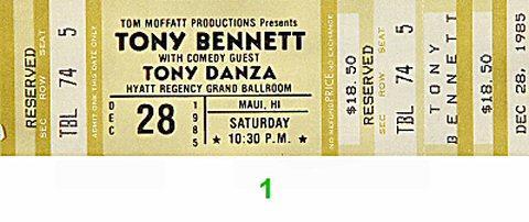 Tony Bennett Vintage Ticket