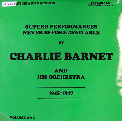 """Charlie Barnet And His Orchestra Vinyl 12"""""""