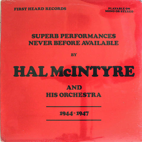 """Hal McIntyre And His Orchestra Vinyl 12"""""""