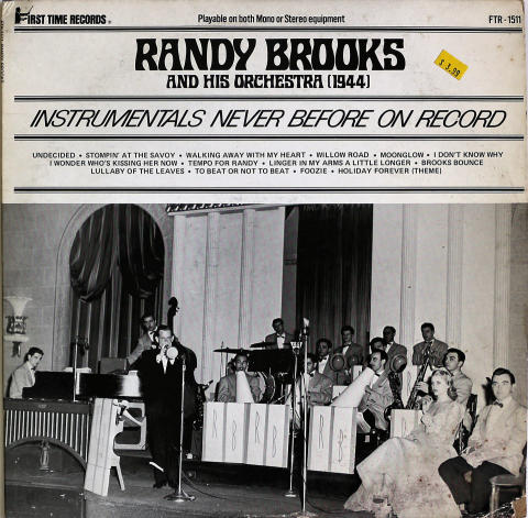 """Randy Brooks And His Orchestra Vinyl 12"""""""